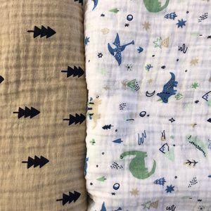 Cloud Island Muslin Blankets Bundle (2 pieces)